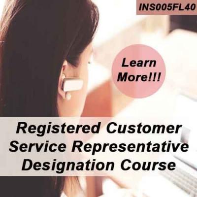 Florida - REGISTERED CUSTOMER REPRESENTATIVE DESIGNATION COURSE (RCSR) ONLINE (4-40)